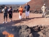 Timanfaya - hot rocks at the surface